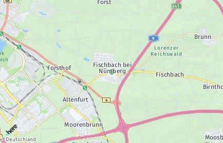 Stadtplan Nürnberg OT Fischbach