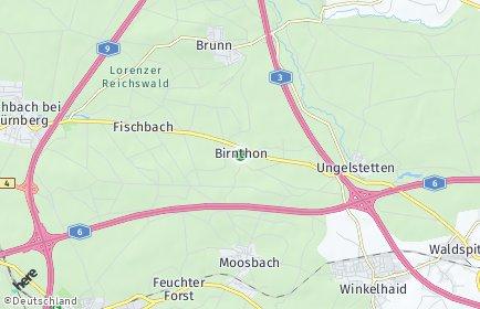 Stadtplan Nürnberg OT Birnthon