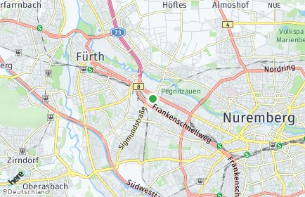 Stadtplan Nürnberg OT Doos