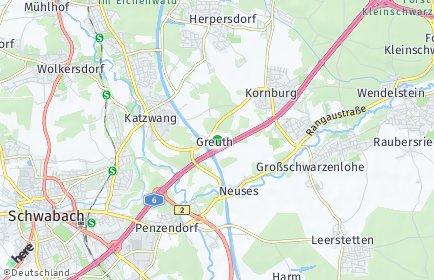 Stadtplan Nürnberg OT Greuth