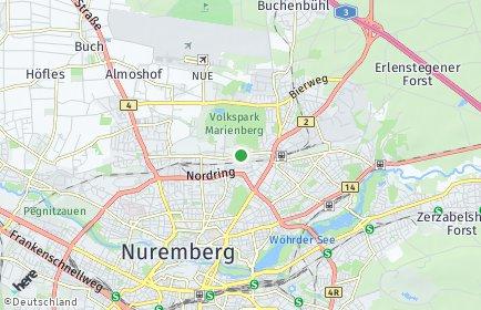 Stadtplan Nürnberg OT Großreuth hinter der Veste