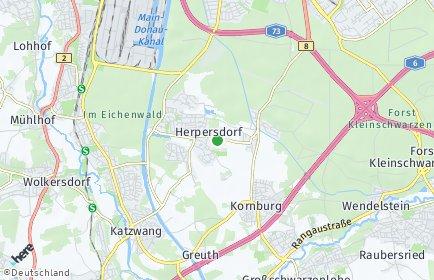 Stadtplan Nürnberg OT Herpersdorf