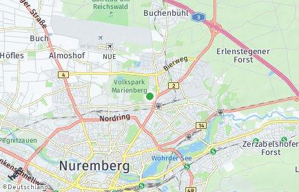 Stadtplan Nürnberg OT Herrnhütte