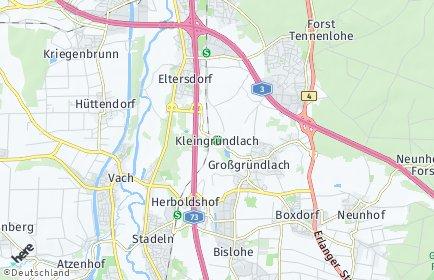 Stadtplan Nürnberg OT Kleingründlach