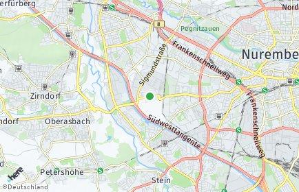 Stadtplan Nürnberg OT Kleinreuth bei Schweinau