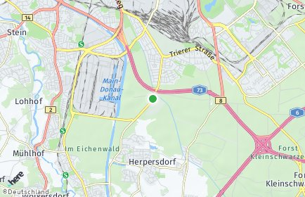 Stadtplan Nürnberg OT Königshof