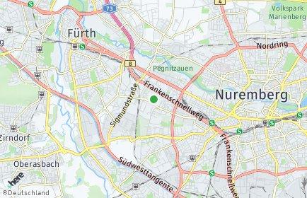 Stadtplan Nürnberg OT Leyh