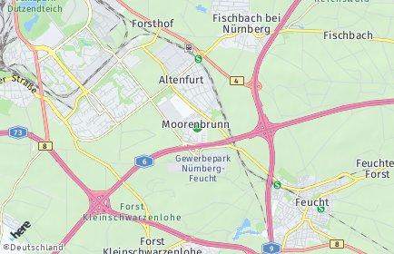 Stadtplan Nürnberg OT Moorenbrunn