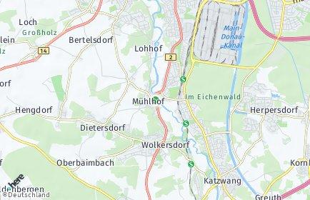 Stadtplan Nürnberg OT Mühlhof