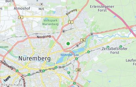 Stadtplan Nürnberg OT Weigelshof