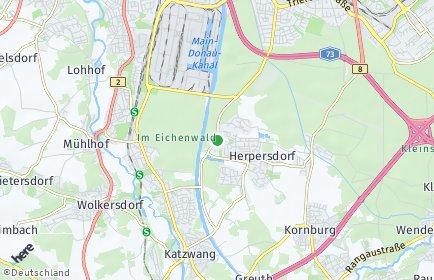 Stadtplan Nürnberg OT Weiherhaus