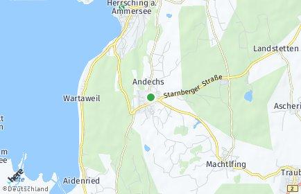Stadtplan Andechs