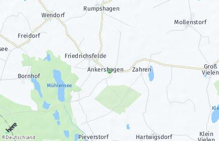 Stadtplan Ankershagen