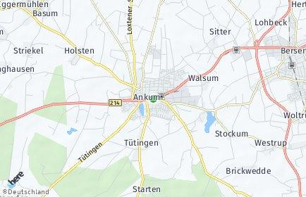 Stadtplan Ankum