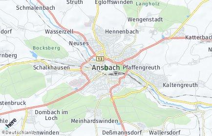 Stadtplan Ansbach