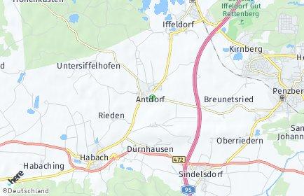 Stadtplan Antdorf
