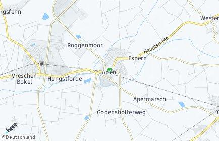 Stadtplan Apen