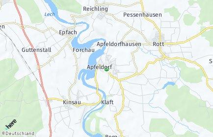 Stadtplan Apfeldorf