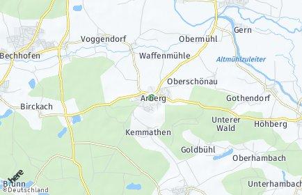 Stadtplan Arberg