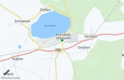 Stadtplan Arendsee (Altmark)