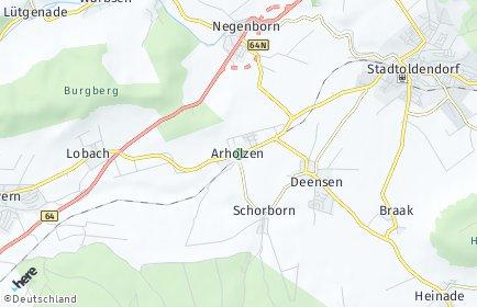 Stadtplan Arholzen