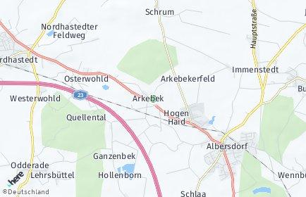 Stadtplan Arkebek