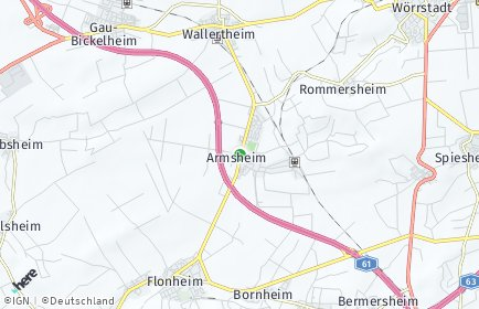 Stadtplan Armsheim
