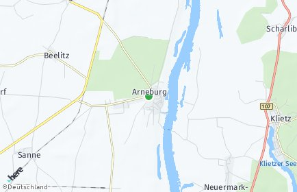 Stadtplan Arneburg