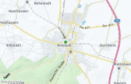 Stadtplan Arnstadt
