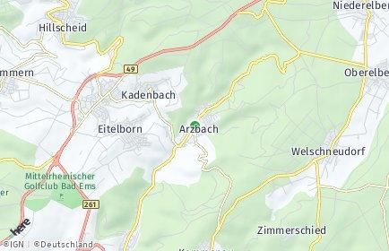 Stadtplan Arzbach