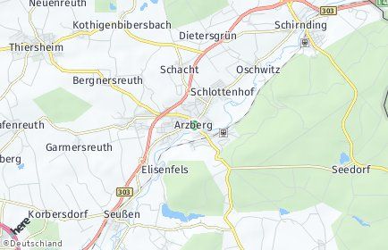 Stadtplan Arzberg (Oberfranken)