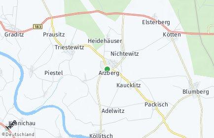 Stadtplan Arzberg (Sachsen)