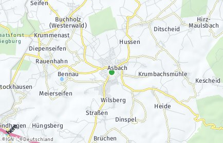 Stadtplan Asbach (Westerwald)