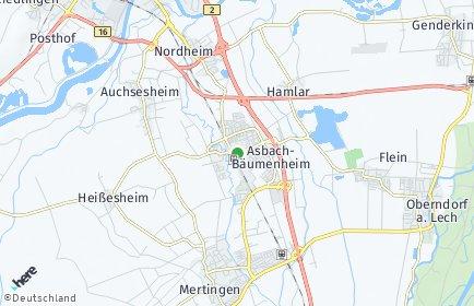 Stadtplan Asbach-Bäumenheim