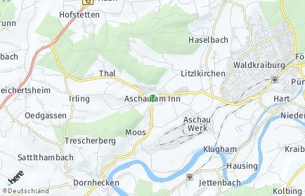Stadtplan Aschau am Inn