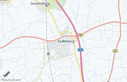 Stadtplan Ascheberg