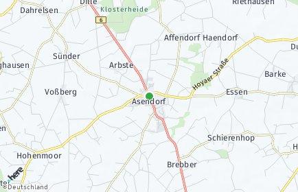 Stadtplan Asendorf (Landkreis Diepholz)