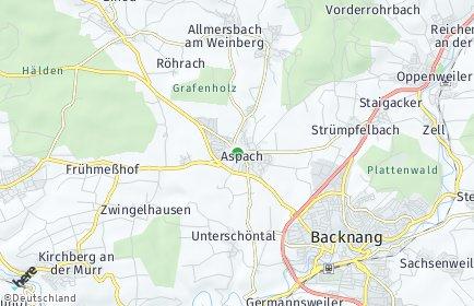 Stadtplan Aspach bei Backnang