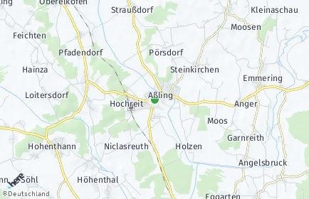 Stadtplan Aßling