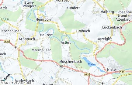 Stadtplan Astert
