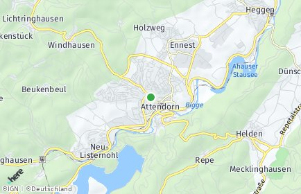 Stadtplan Attendorn