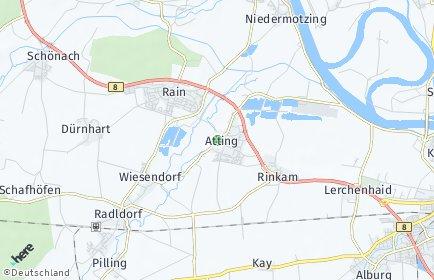 Stadtplan Atting