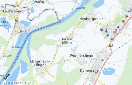 Stadtplan Au am Rhein