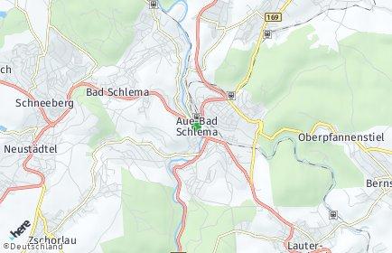Stadtplan Aue-Bad Schlema