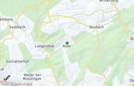 Stadtplan Auen bei Monzingen
