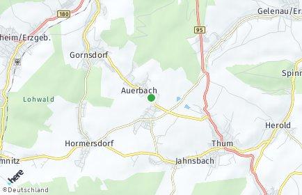 Stadtplan Auerbach (Erzgebirge)
