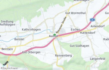 Stadtplan Auetal