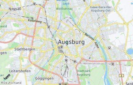 Stadtplan Augsburg OT Hochzoll