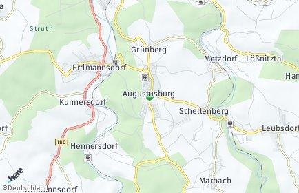 Stadtplan Augustusburg
