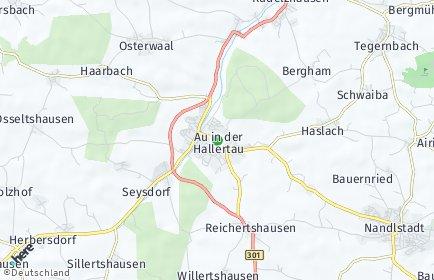 Stadtplan Au in der Hallertau